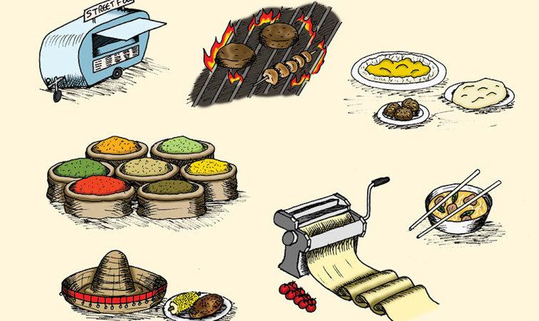 街头食物与纽约