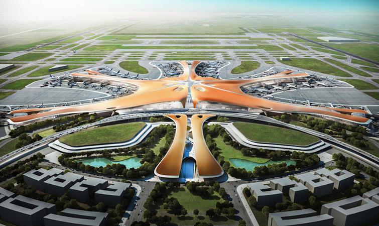 北京大兴那个即将崛起的新机场,来自扎哈·哈迪德图片