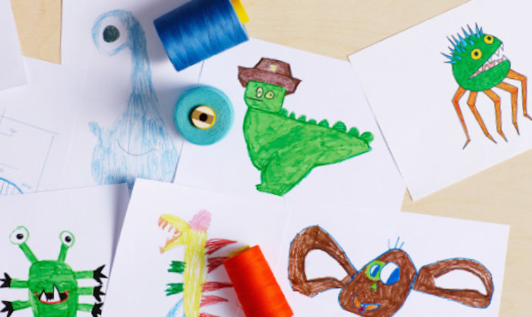 歪嘴,大小眼…宜家这些蠢萌玩偶来自孩子的简笔画
