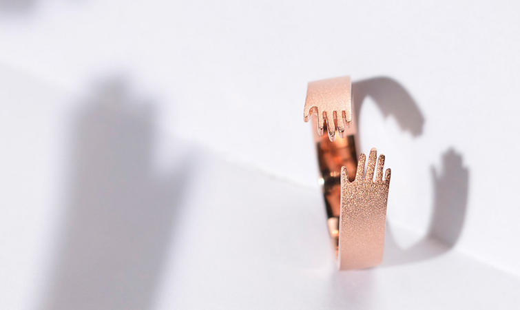 微信头像戒指牵手