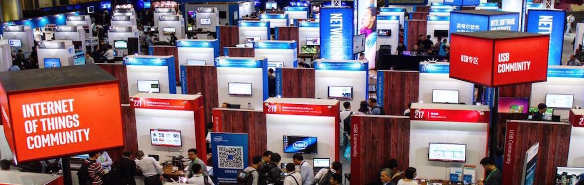 在中国办了 10 年的大会,英特尔拉上台的合作伙伴们怎么越来越小了?
