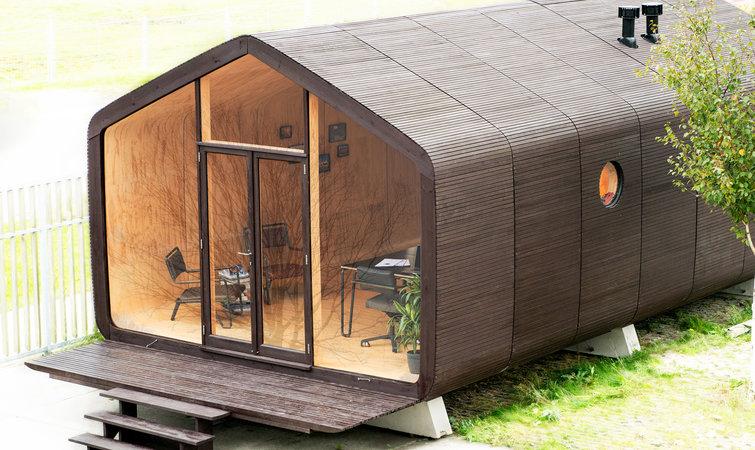 这个用硬纸板做的小房子