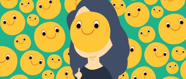 微笑emoji有各种,微信自带的那个像个