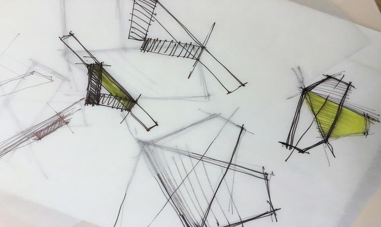 西服設計圖鉛筆手稿