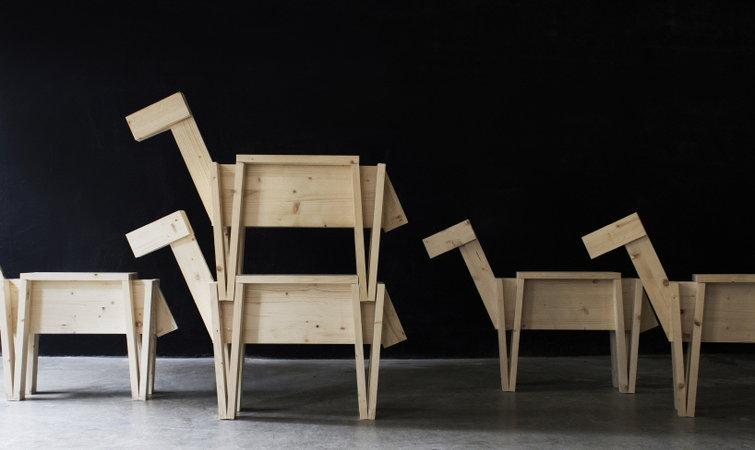 木马摇椅设计手绘
