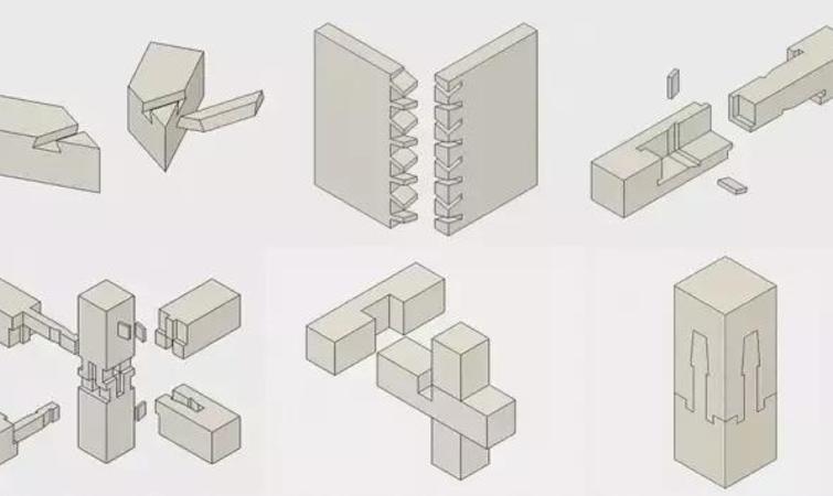 坂茂用最为传统的榫卯结构
