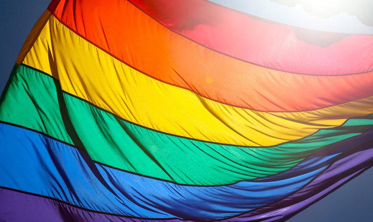像是台北市政府将在活动当天,挂上一整天彩虹旗以示支持.图片