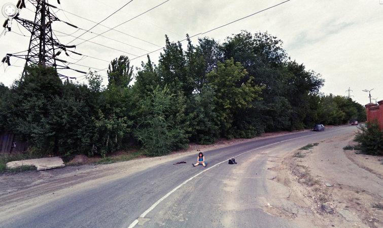 进景马路风景照片
