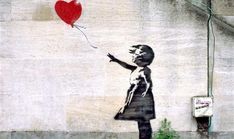 """英国亚马逊海淘_Banksy的涂鸦成英国人最爱艺术品,这是""""愚蠢的证明""""?_设计 ..."""