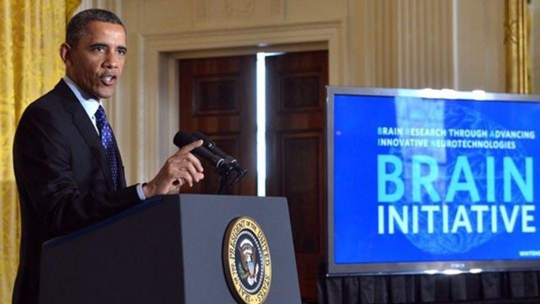 奥巴马宣布发起 BRAIN Initiative 计划,图片来自:维基百科