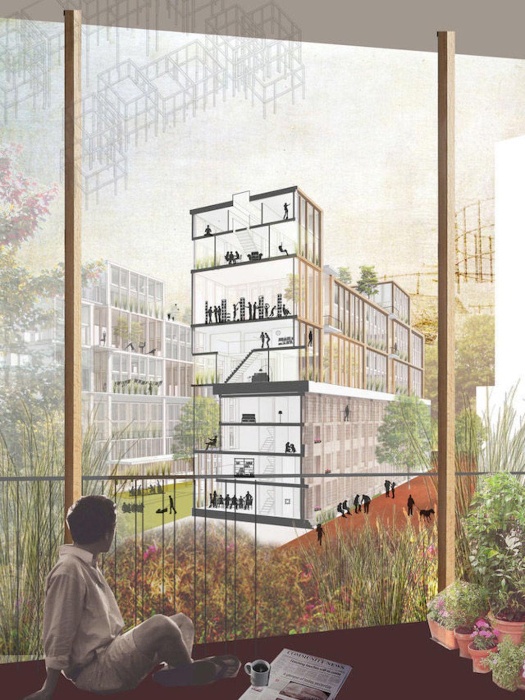 为了解决伦敦住房紧张问题,这些建筑师的脑洞开得挺大_设计_好奇心日报