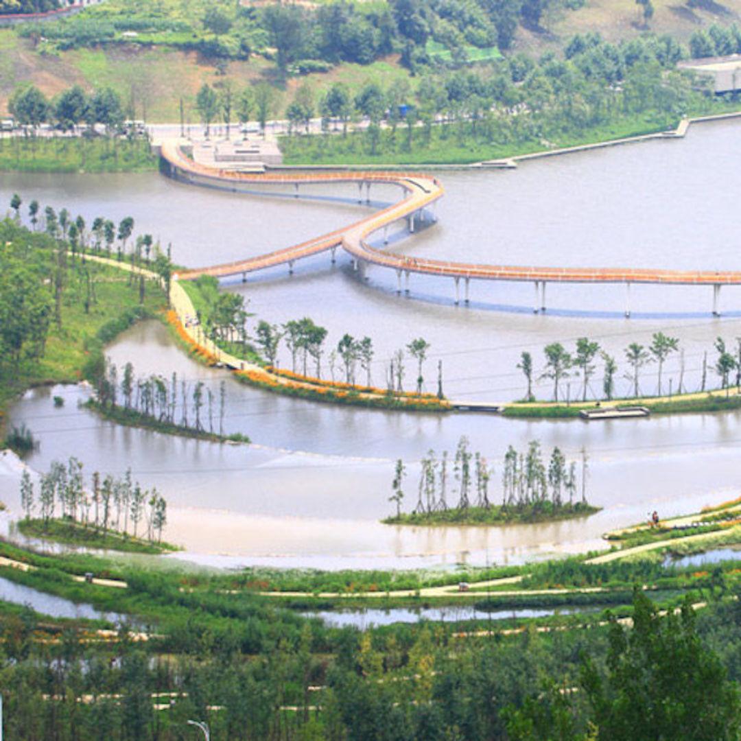 """浙江金华的燕尾洲公园,实践了一个""""海绵城市""""的概念_设计_好奇心日报"""