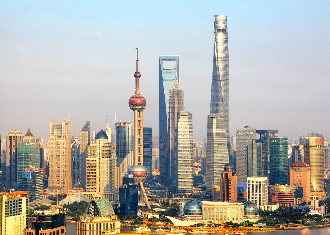 高楼林立的上海(最高那座就是上海中心)