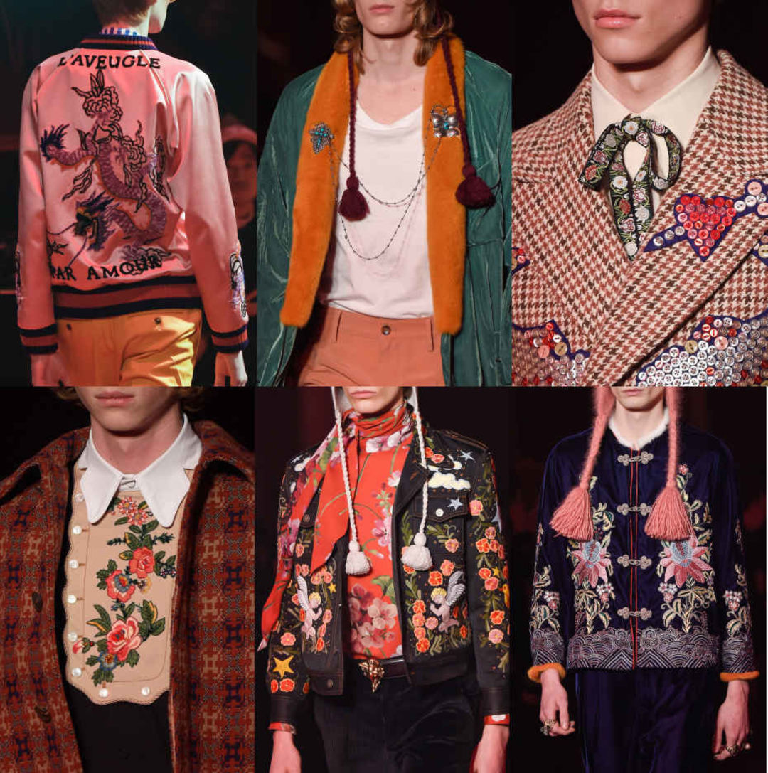 The Gucci fall 2016 men's collection. Photo: Imaxtree