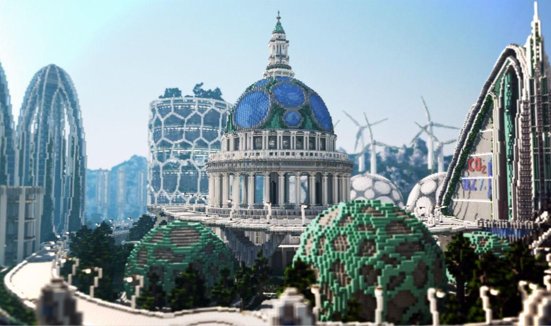 在Minecraft里建房子,看看未来的城市长什么样_设计_好奇心日报