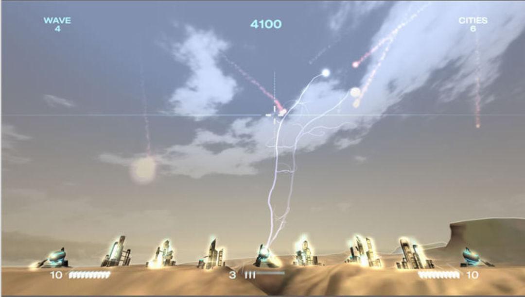 原本的《导弹指挥官》和 Xbox 的导弹指挥官画面对比。