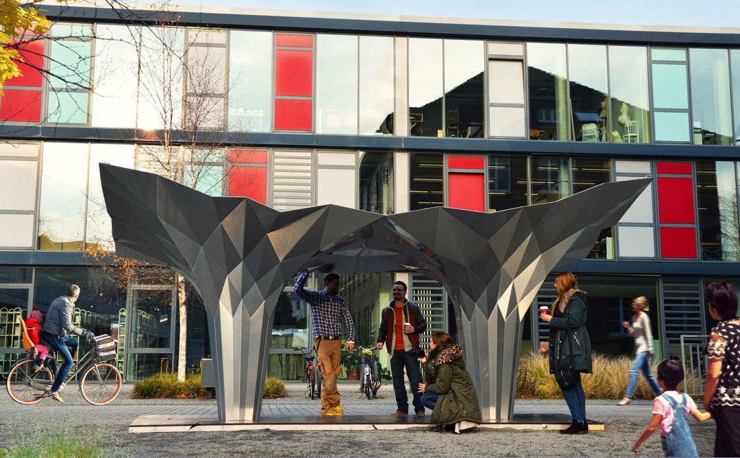 这里有个形状奇怪的亭子,它的灵感来自于折纸艺术_设计_好奇心日报