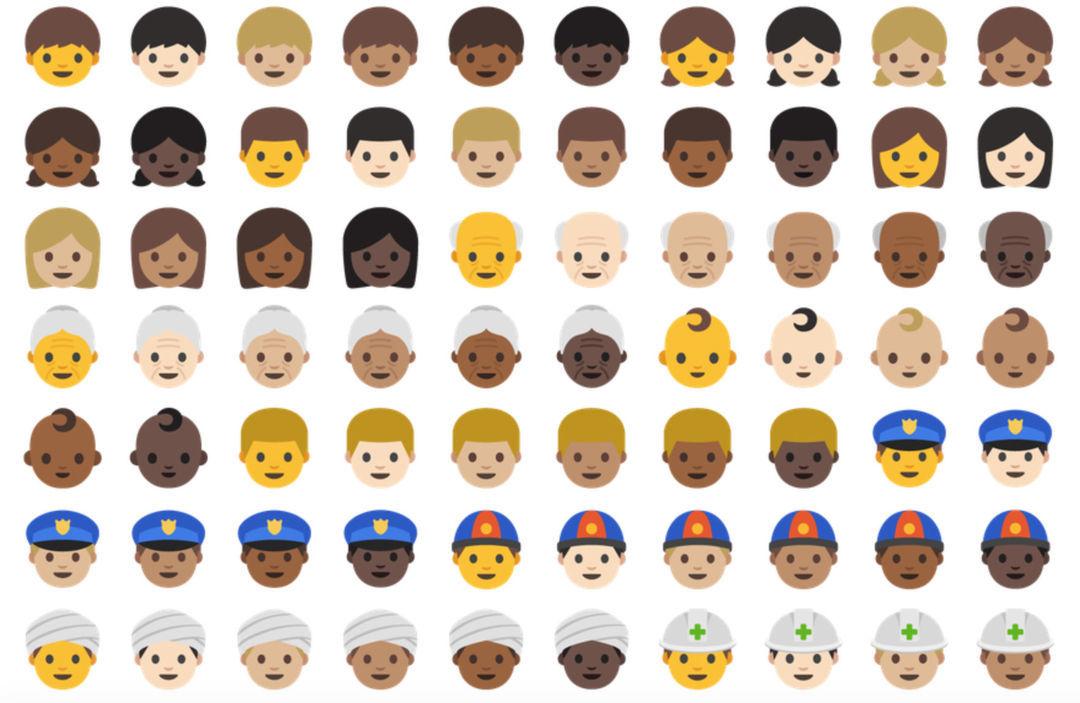 0 标准里的 74 个新的 emoji 表情,像流口水,擤鼻涕这种表情.