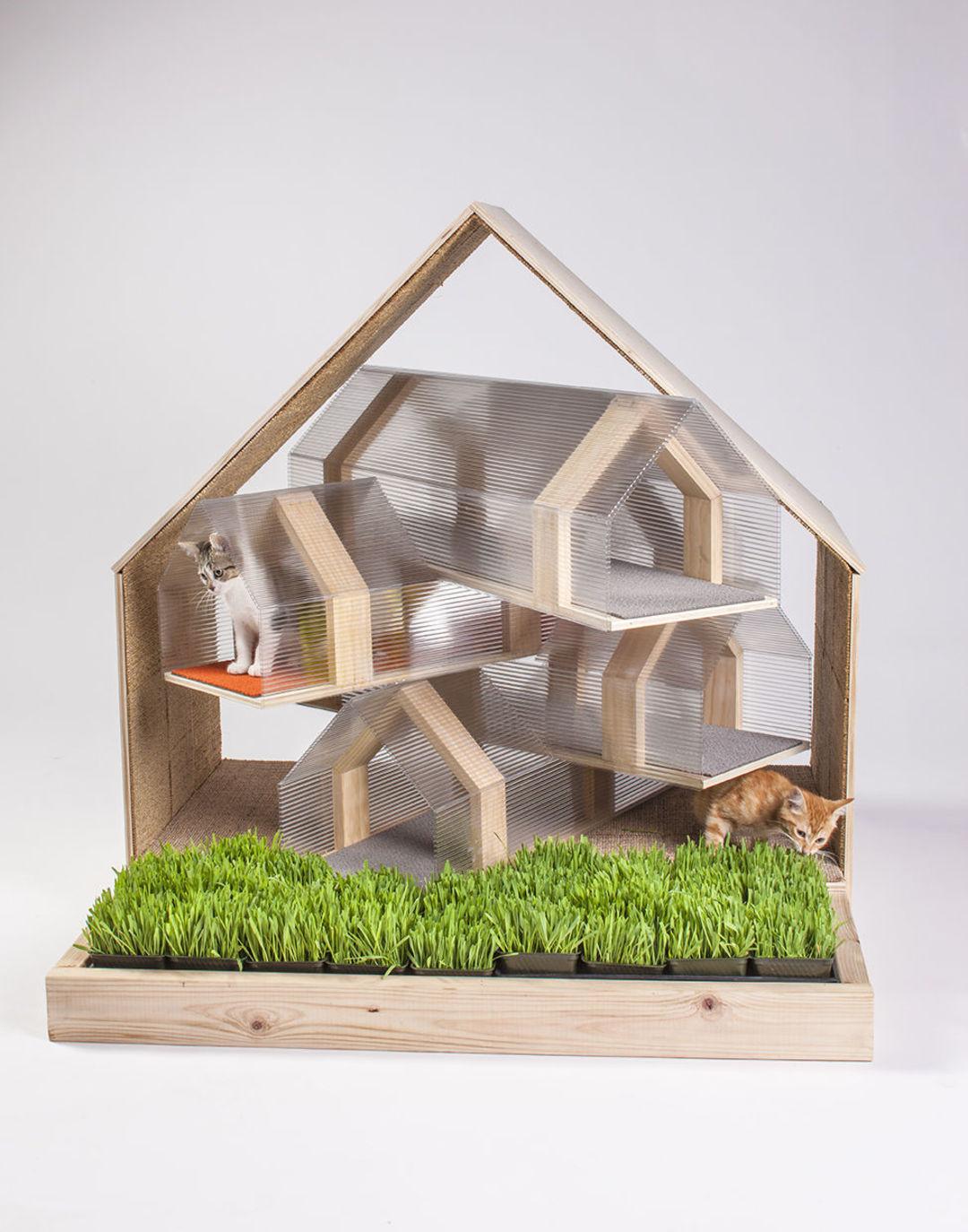 建筑师开脑洞,给喵星人盖了12种有趣的房子_设计_好奇心日报