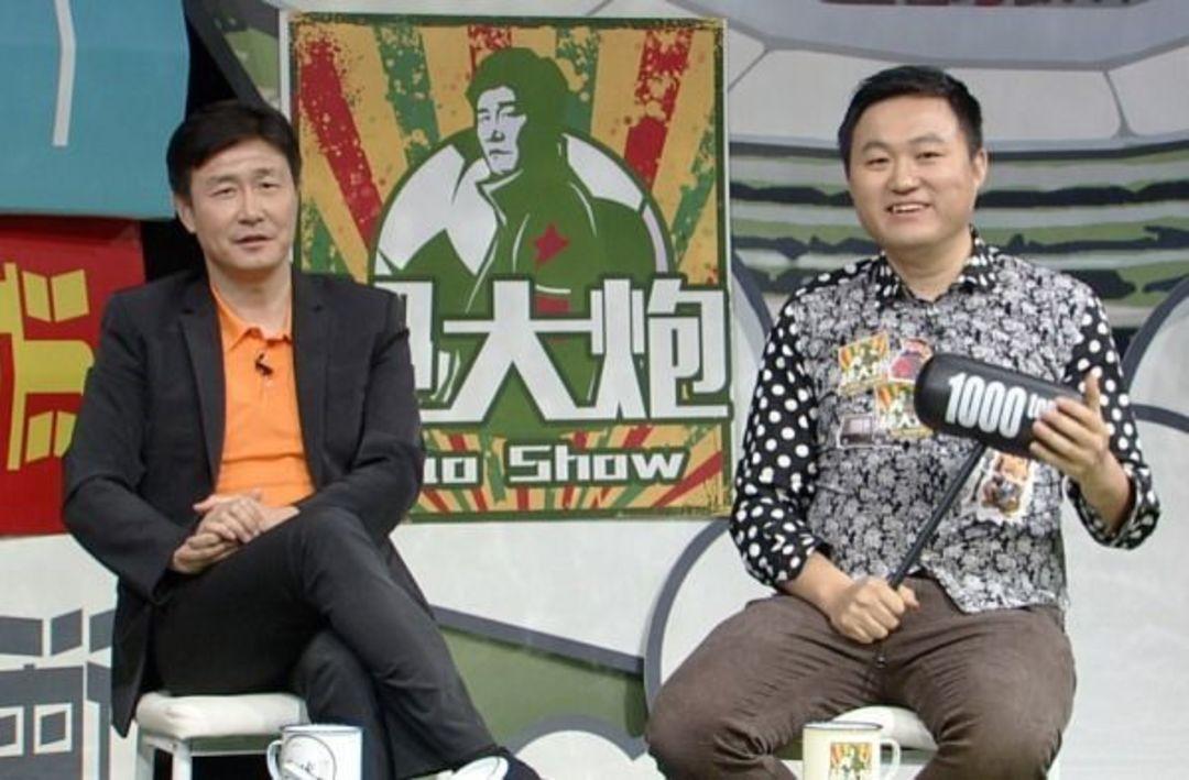 王涛与郝海东在节目《郝大炮》中