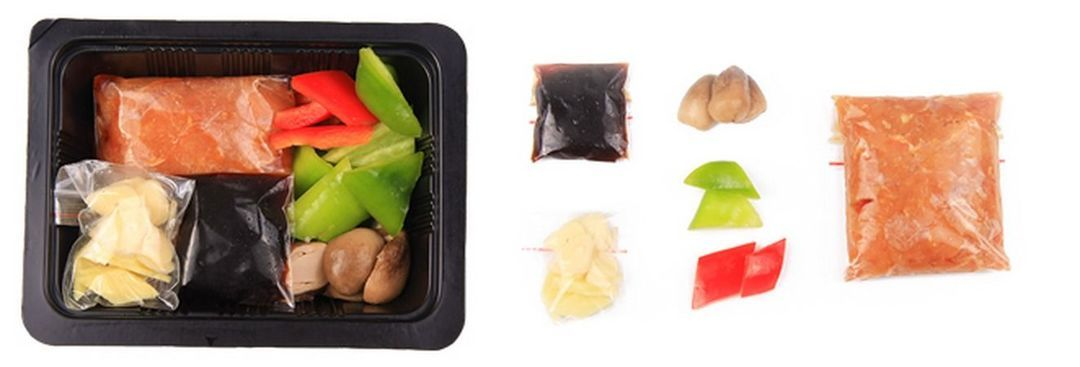 草菇滑鸡片净菜