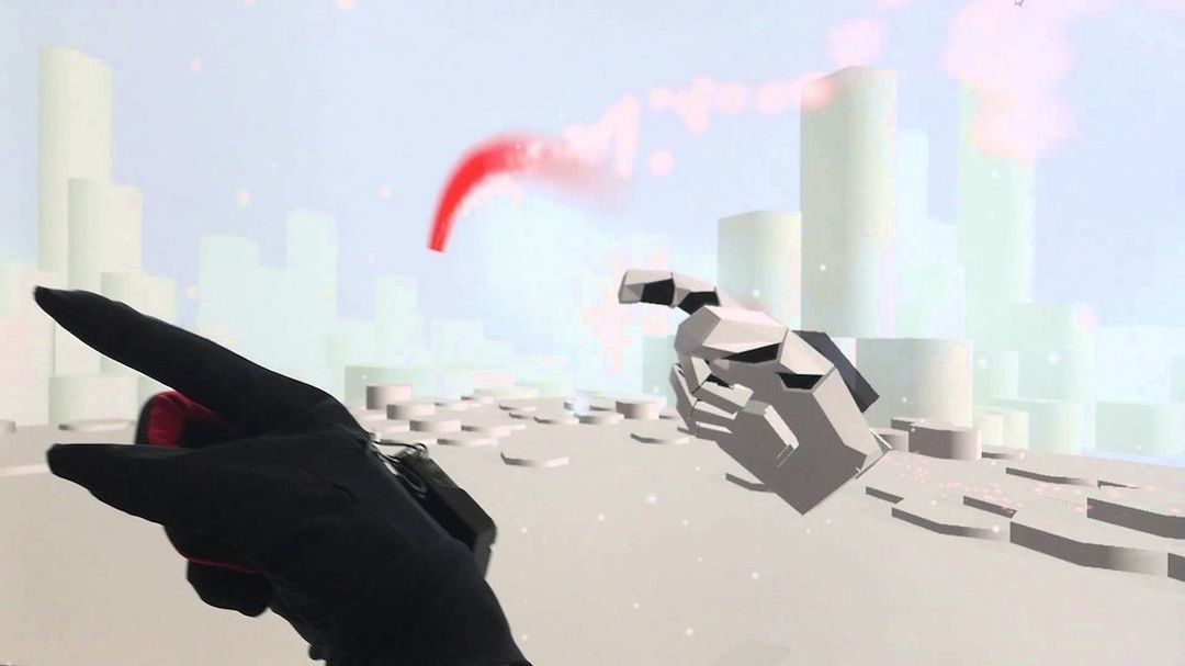 黑色为手套,白色为模拟的手