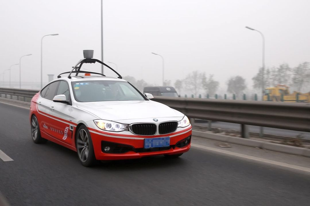 百度无人车于去年 12 月在北京路测