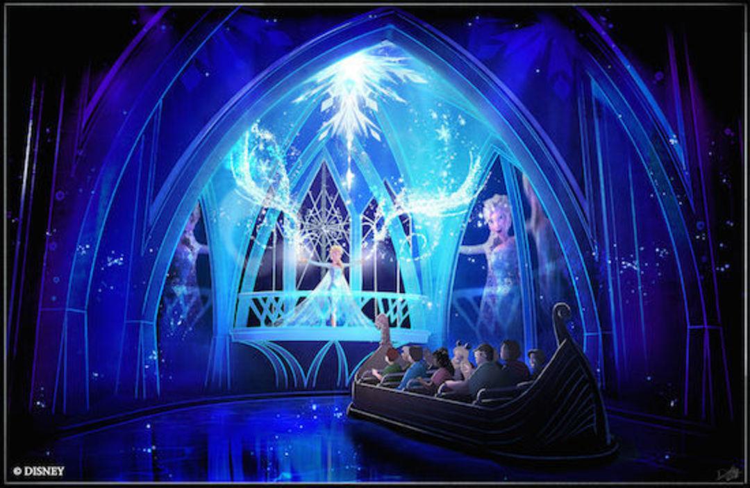迪士尼乐园中的冰雪奇缘主题区会长什么样?