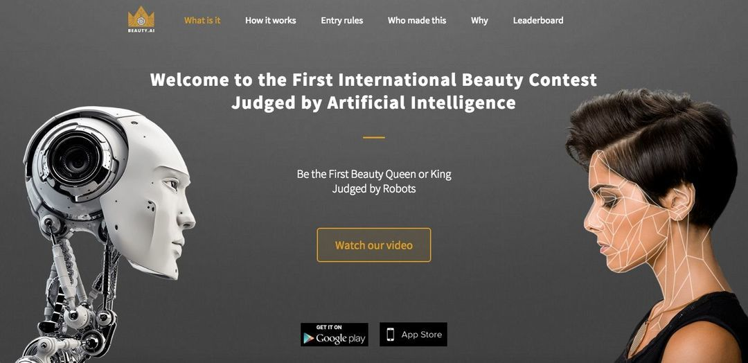 活动网站 beauty.ai 首页