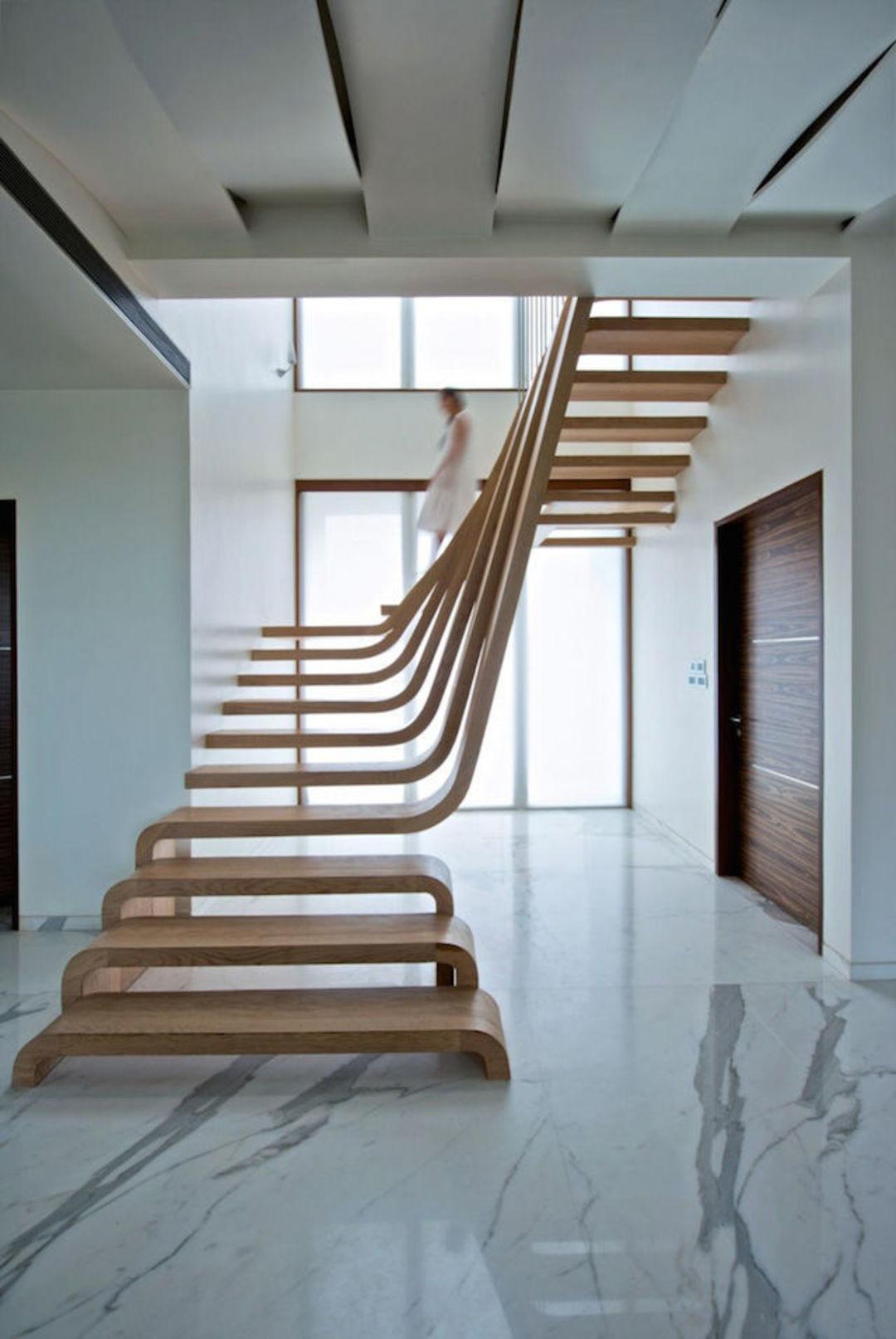 楼梯不装扶手的时候其实挺酷,你看这12个案例_设计_好奇心日报