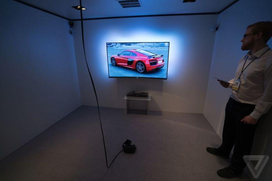 今年 CES 上奥迪的 VR 试车体验区