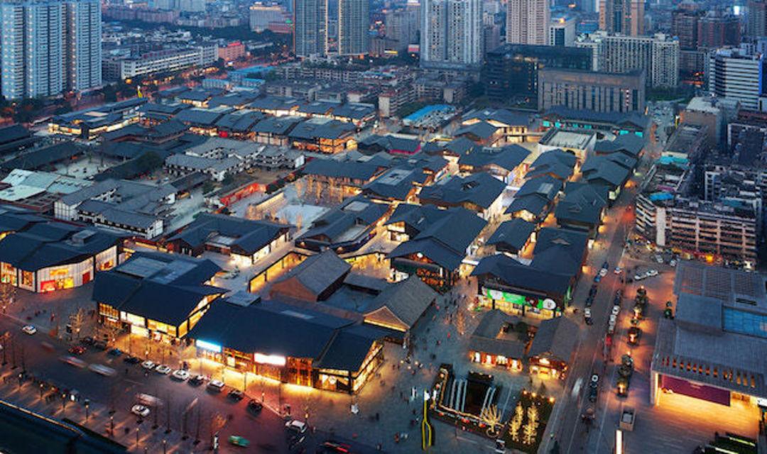 两片软件,重塑成都市中心建筑设计构思商场图片