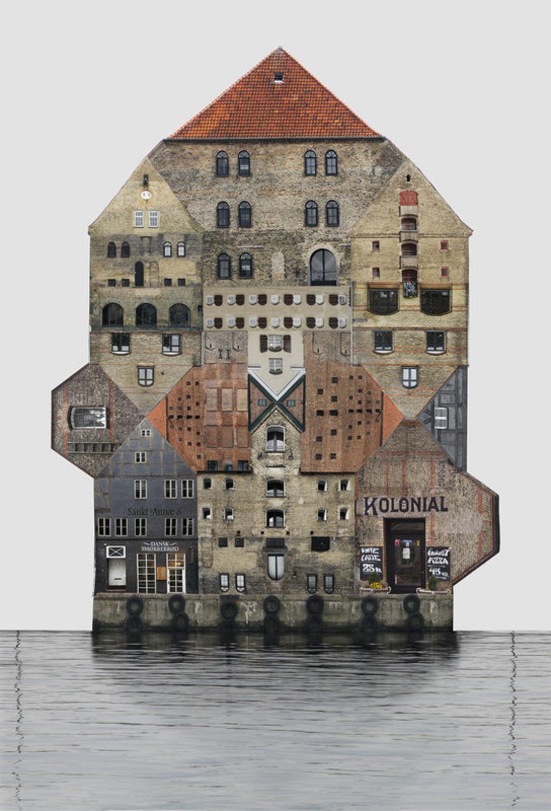 把一座城市里房子的外墙拍下来,拼贴成一座建筑_设计_好奇心日报