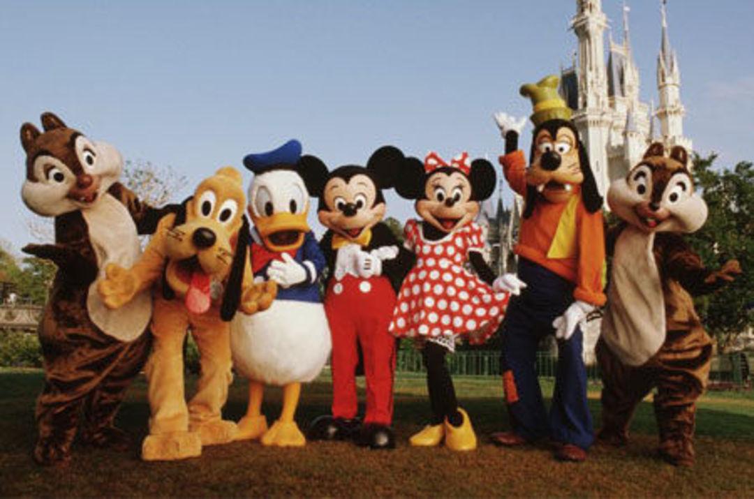 迪士尼樂園中的演員們