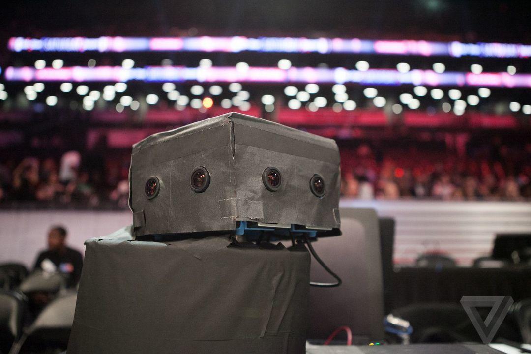 拍摄虚拟现实的摄像机