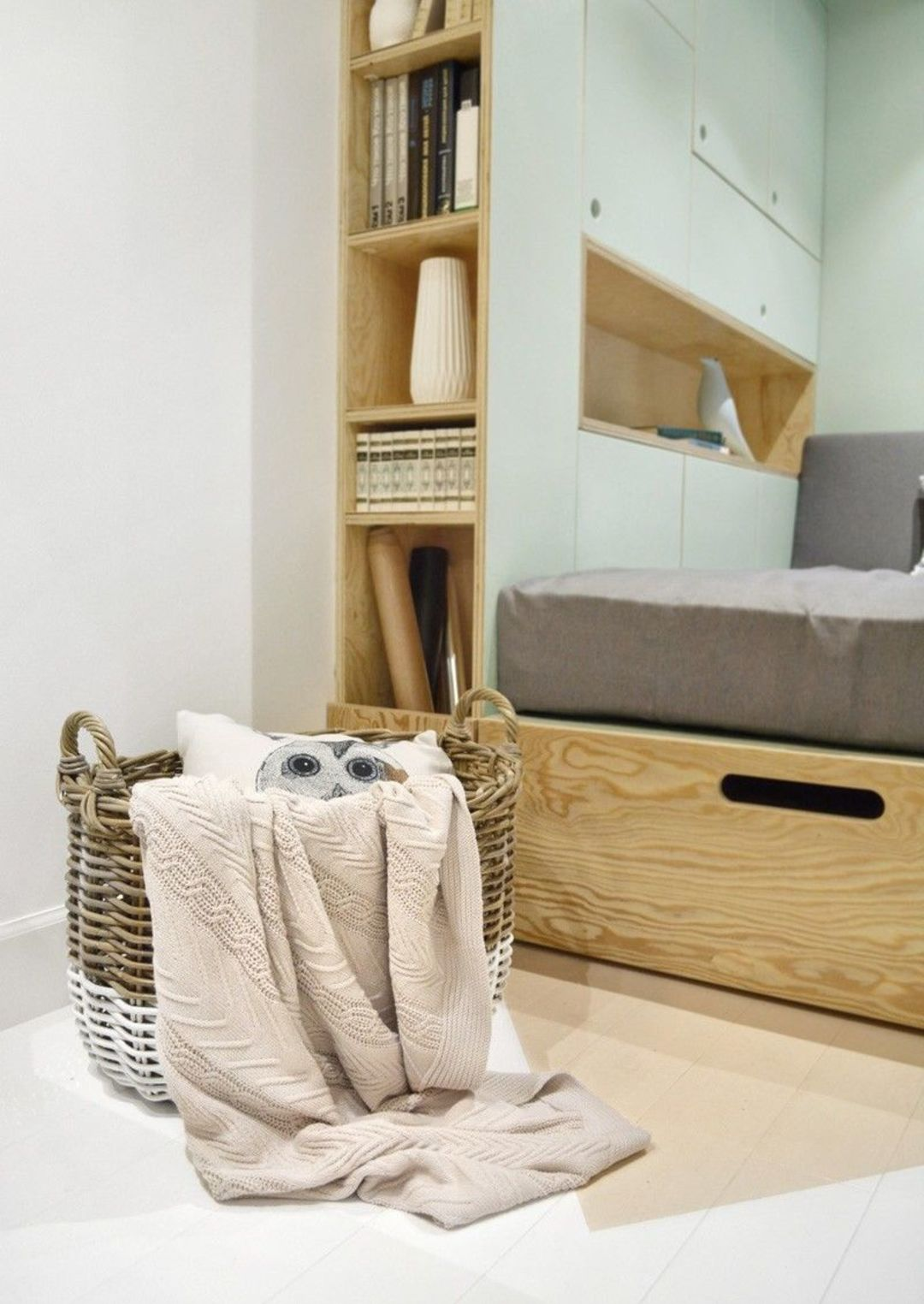 为14岁女孩设计的极简房间,或许也能给你一点收纳灵感_设计_好奇心日报