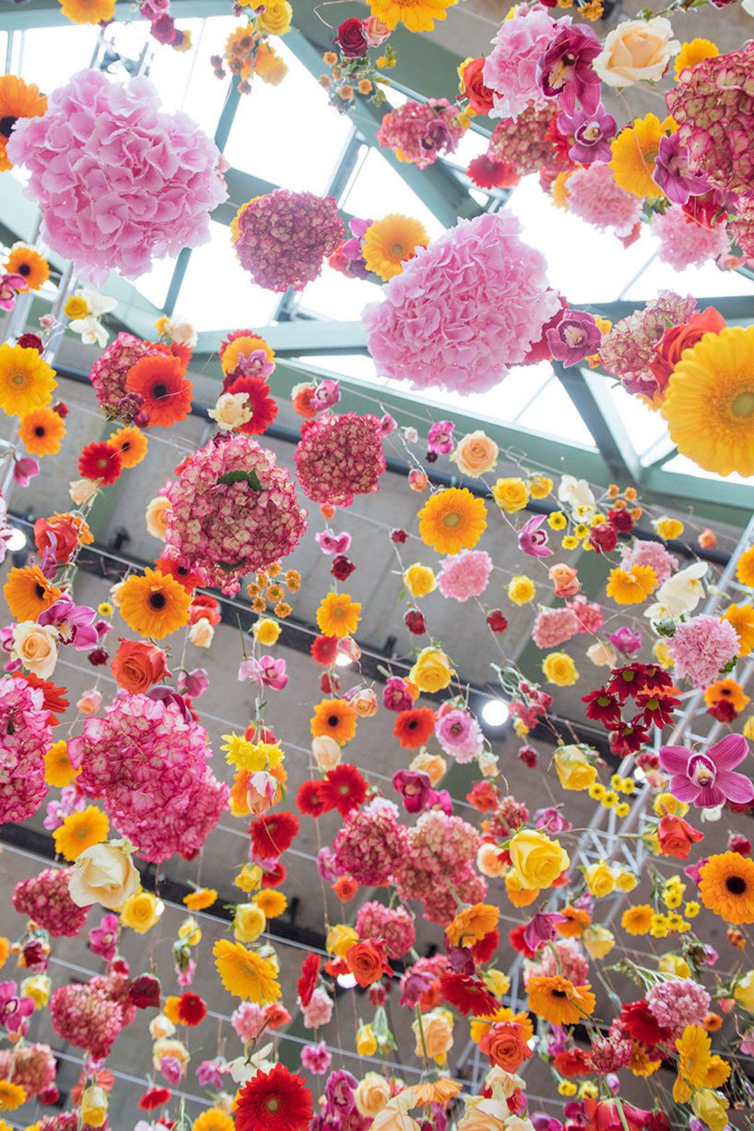 """柏林最酷的商场,变成了 3 万束鲜花的""""风干""""台_设计_好奇心日报"""