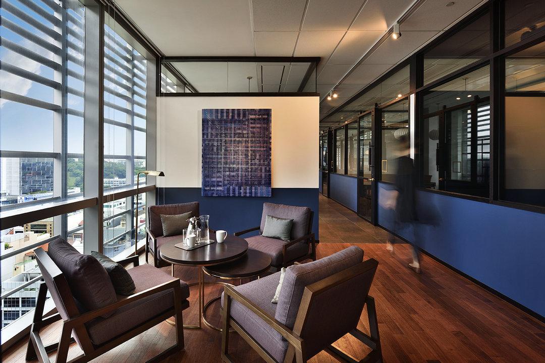 时髦联合办公室有不少,新加坡这个看起来属于稳重派_设计_好奇心日报