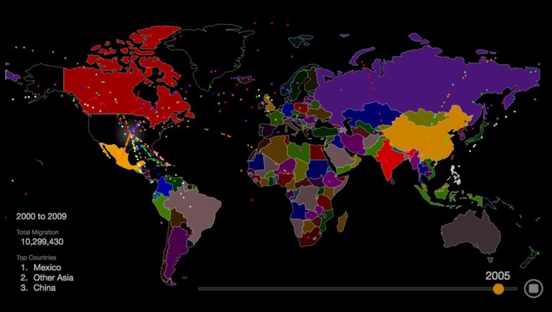 世界人口都是如何流动的?这里有张地图_城市_好奇心日报