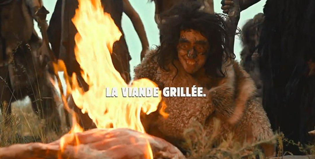 汉堡王拍了个短片,人类第一次用火都出了哪些笑话?_商业_好奇心日报