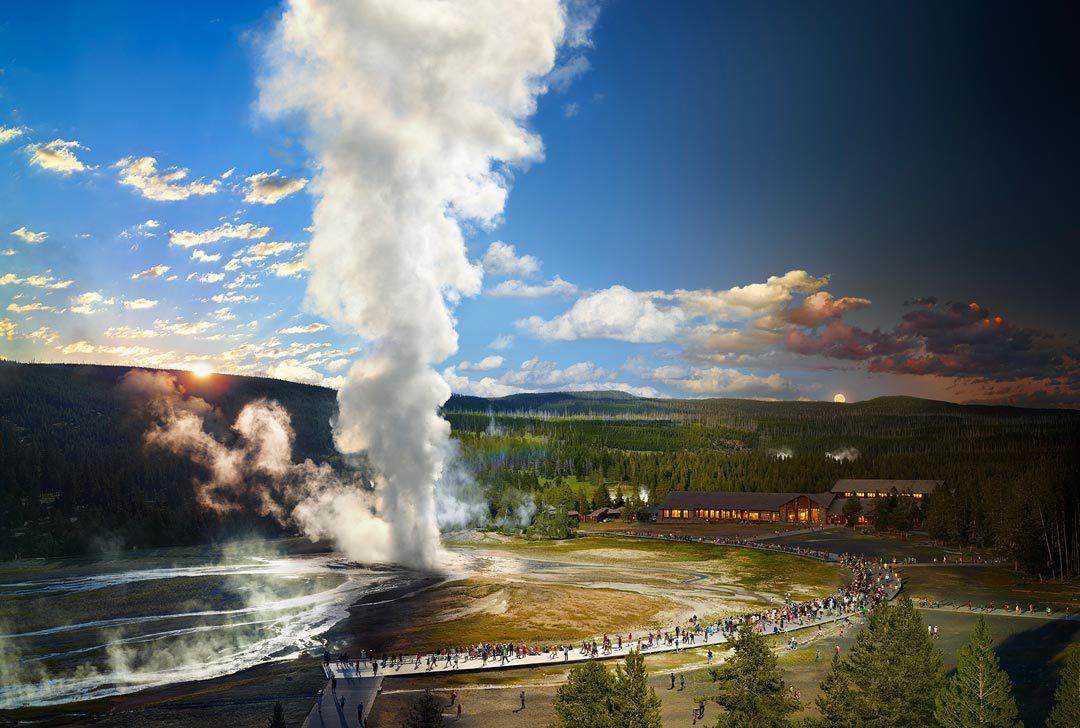 美国国家地理杂志:黄石国家公园的老忠实喷泉