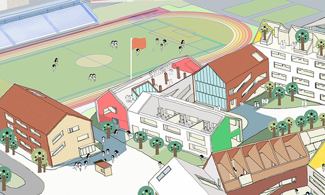 杭州的这所学校,从幼儿园到初中都被安排在了一起_设计_好奇心日报