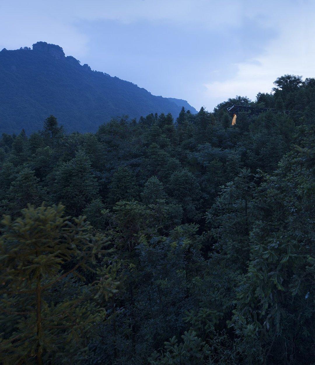 这个山林中的树袋屋,想把你带回巢居生活