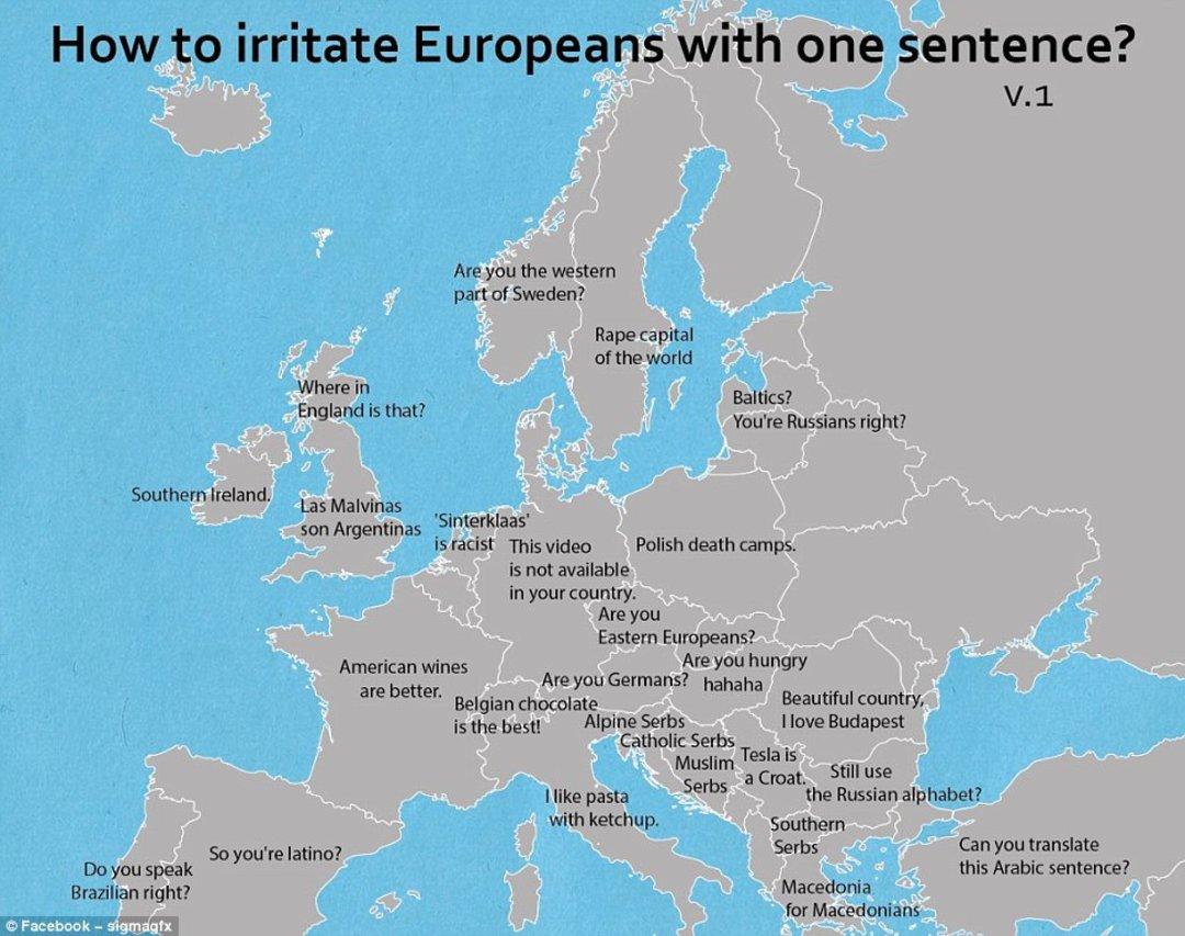 「这世界」在欧洲,5 个字就会惹毛这些国家的人_文化_好奇心日报