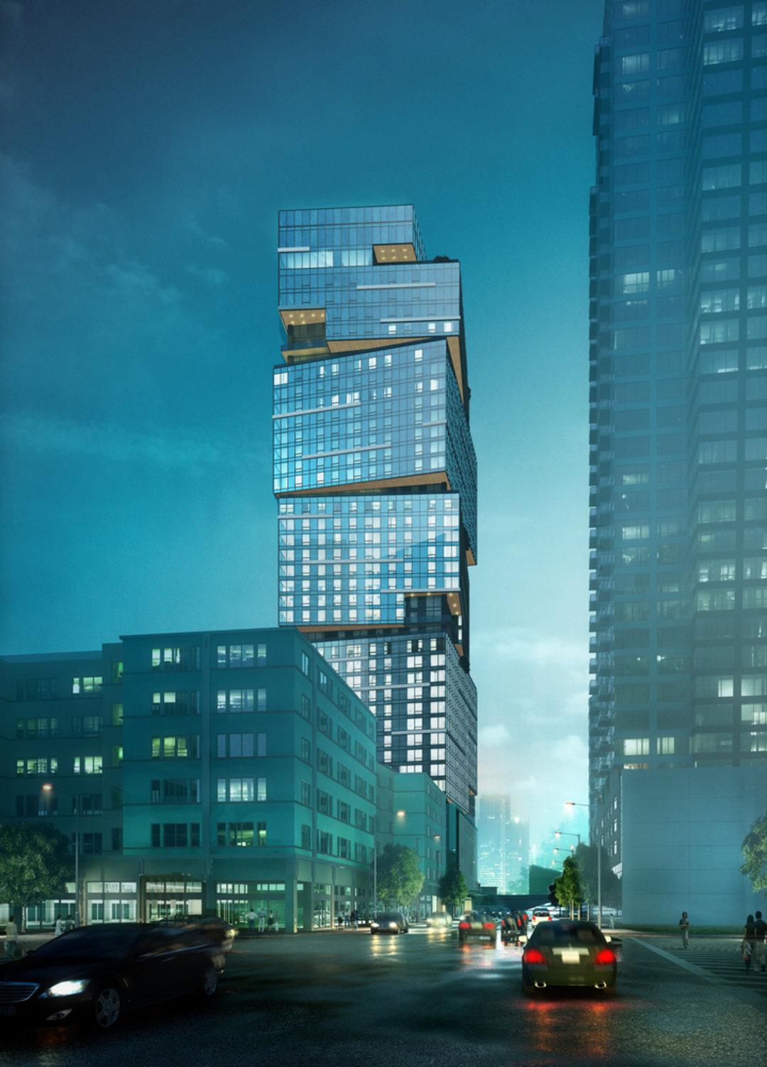"""由""""旋转""""方块组成的公寓大楼,西雅图人凌晨 5 点排队来买_设计_好奇心日报"""