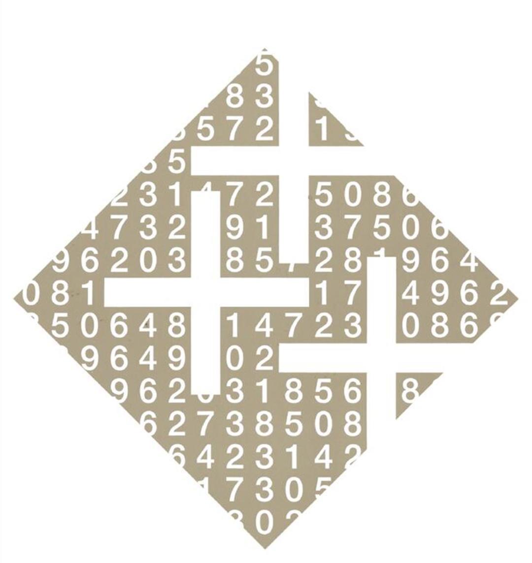 欧文金融公司的logo,1990年.数字帮助解释了加号标志.图片
