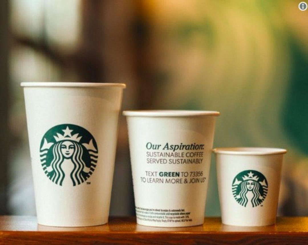 星巴克宣布测试新的可堆肥杯,原有塑料内衬将改为可降解材料